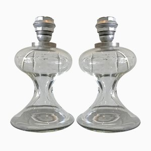 Italian Glass Table Lamps by Ingo Maurer, 1970s, Set of 2