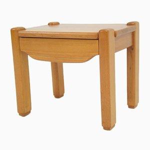 Nachttisch aus Ulmenholz, 1980er