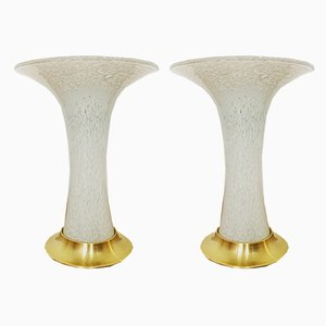 Glass Table Lamps from Doria Leuchten, 1960s, Set of 2