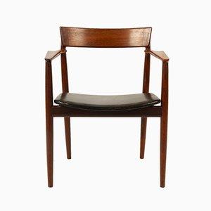 Vintage Danish Rosewood Armchair by Henry Rosengren Hansen for Brande Møbelindustri, 1960s