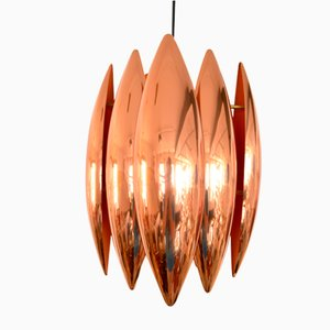 Copper Kastor Pendant Lamp by John Hammerborg for Fog & Mørup, 1960s