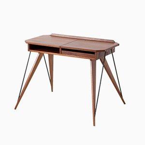 Italienischer Schreibtisch aus Teak & Buche, 1950er