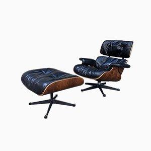 Modell 670-671 Sessel mit Schale aus Palisander von Charles & Ray Eames für Herman Miller, 1971