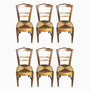Antique Cherry Dining Chairs, Set of 6