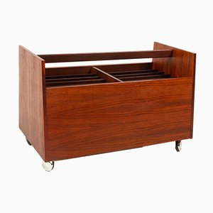 Rosewood Magazine Rack by Rolf Hesland for Bruksbo, 1960s