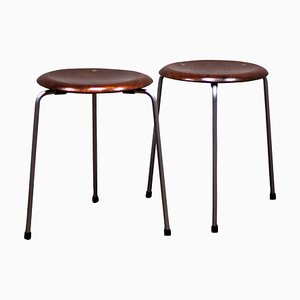 Mid-Century Danish Dot Stools by Arne Jacobsen for Fritz Hansen, Set of 2