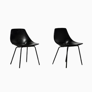 Mid-Century Tonneau Side Chairs by Pierre Guariche for Steiner, Set of 2