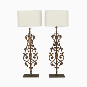 19th Century Balustrade Table Lamps, Set of 2