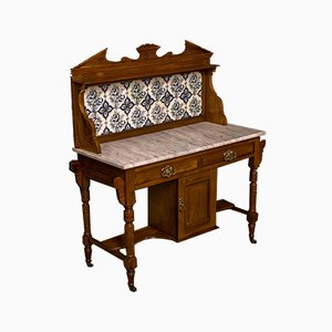 Antique Edwardian Walnut Wash Stand