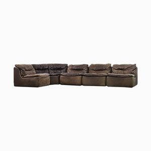 Leather 144 Sofas by Friedrich Hill for Walter Knoll / Wilhelm Knoll, 1970s, Set of 5