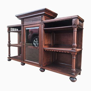 Antique Wood and Mahogany Buffet