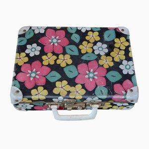 Vintage Koffer mit Blumen-Muster, 1950er