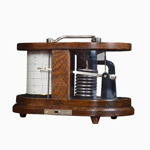 Antique Oak Barograph by C. P. Goerz