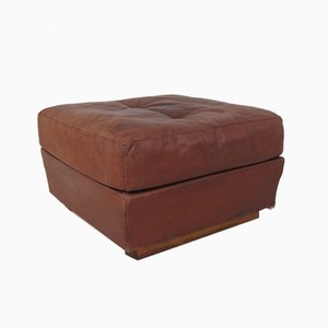 Mid-Century Brown Leather Ottoman from de Sede, 1960s