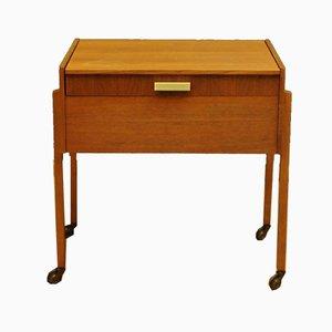 Mesa de costura vintage de teca, años 60