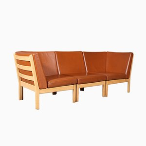 Vintage 3-Seater Modular Sofa by Hans J. Wegner for Getama