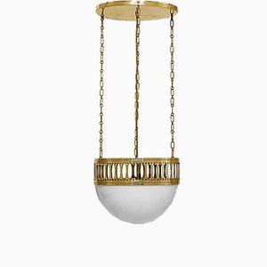 Lampada da soffitto in stile Art Nouveau di Woka, anni '80
