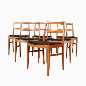 Dining Chairs by Arne Vodder for Sibast, 1960s, Set of 6