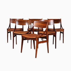 Rosewood Dining Chairs by Vestervig Eriksen for Brdr. Tromborg's Eftf., 1960s, Set of 6