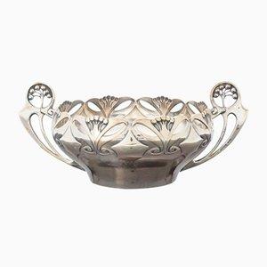 Art Nouveau Silver Bowl from Axel Gabriel Dufva, 1906