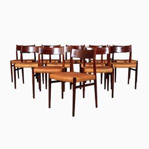 Chaise de Salle à Manger Modèle 418 en Palissandre et Cuir par Arne Vodder pour Sibast, années 60