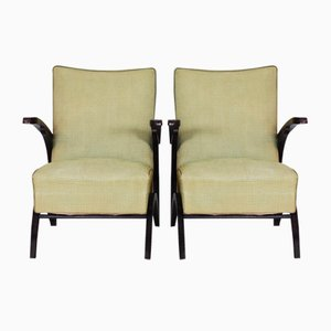 Beech Armchairs by Jindřich Halabala for UP Závody, 1930s, Set of 2