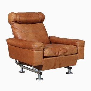 Sessel mit Gestell aus gebürstetem Stahl & Palisander von Illum Wikkelsø für Aarhuspol, 1960er