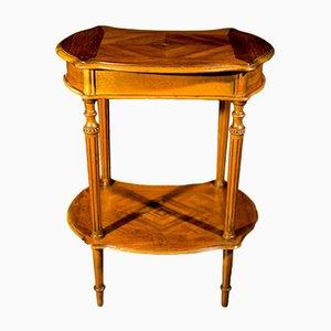 Tavolo da cucito Napoleone III antico in noce, fine XIX secolo