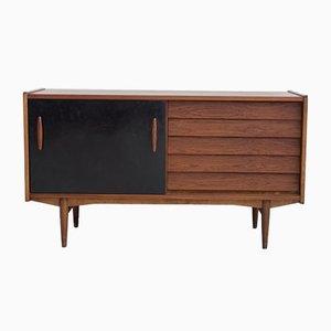 Sideboard aus Teak mit lackierter Schiebetür von Hugo Troeds, 1950er
