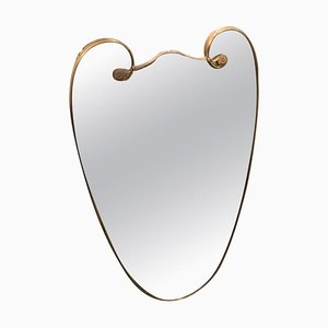 Espejo italiano moderno de latón de Gio Ponti, años 50