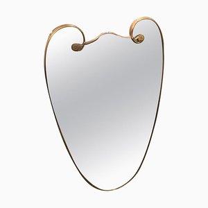Moderner italienischer Spiegel mit Messingrahmen von Gio Ponti, 1950er