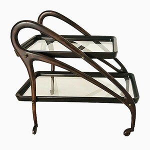 Wooden Bar Trolley by Ico Luisa Parisi, 1950s