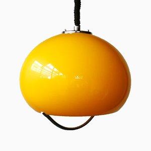 Lámpara de techo italiana era espacial de Brevettato, años 70