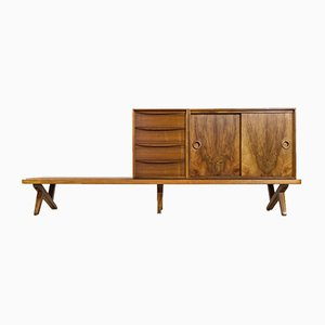 Large Walnut Credenza by Rudolf Glatzel for Fristho, 1950s