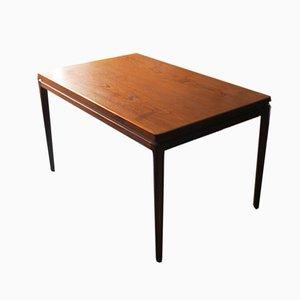 Mesa de comedor modelo 8 extensible de teca de Johannes Andersen para Christian Linneberg, años 60