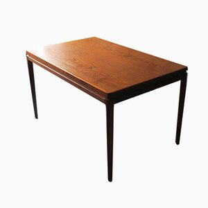 Teak Extendable Model 8 Dining Table by Johannes Andersen for Christian Linneberg, 1960s