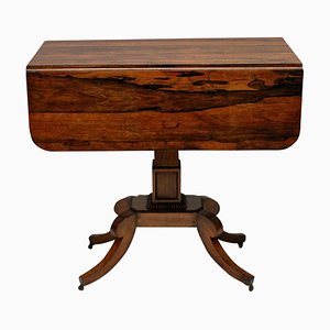 Mesa auxiliar inglesa antigua de palisandro
