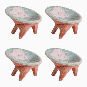 Chaises de Jardin en Ciment, années 60, Set de 4