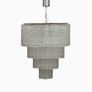 Murano Glass 3-Tier Chandelier from Venini, 1960s
