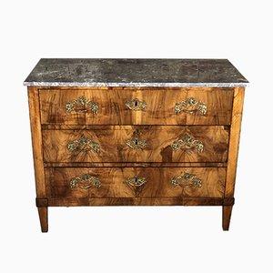 Antique Louis XVI Style Inlaid Marble Dresser