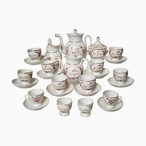 Antique French Porcelain Coffee and Tea Service