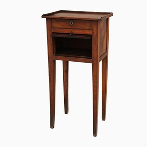 19th Century Directoire Italian Walnut Nightstand