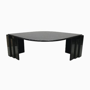Italian Black & White Marble Coffee Table, 1970s