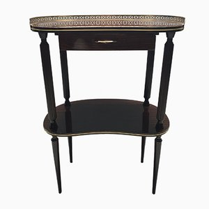 Italian Brass and Rosewood Console Table, 1950s