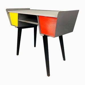 Industrieller Schreibtisch aus Metall, 1950er
