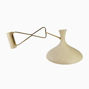 Mid-Century Brass Wall Light by Louis Kalff for Cosack
