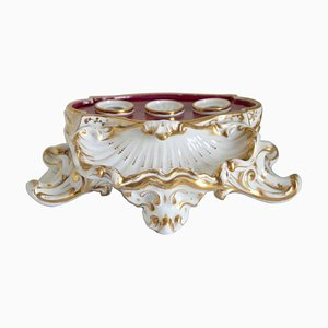 Antique French Porcelain Inkstand, 1880s