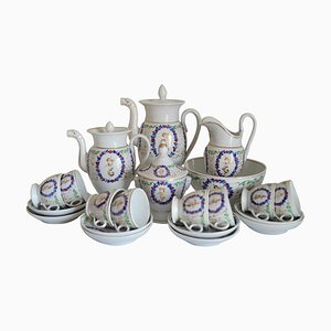 Antique French Porcelain Tea and Coffee Service, 1850s