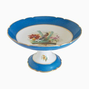 Frutero francés antiguo de porcelana, década de 1880