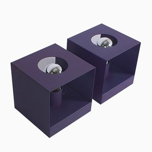 Appliques Violettes de Philips, années 70, Set de 2